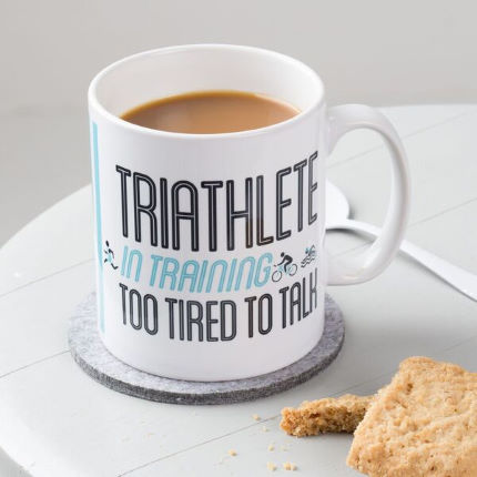Quirky Gift Library Triathlete In Training Tasse