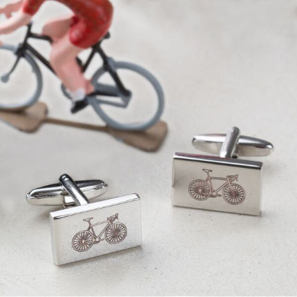 Quirky Gift Library 'You Can Never Have too Many Bikes' manchetknopen