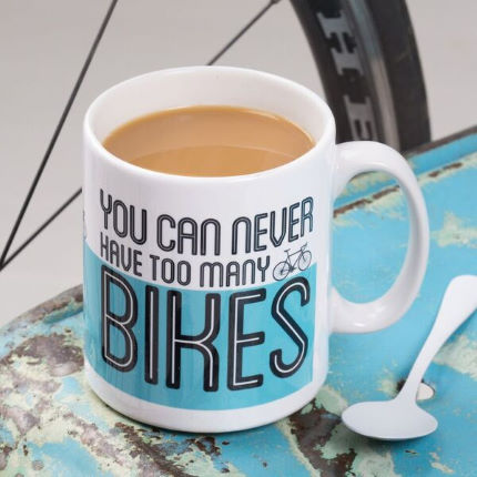 Quirky Gift Library You Can Never Have too Many Bikes v2 Mugg