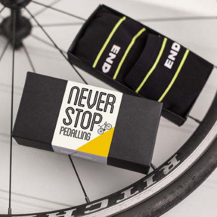 Quirky Gift Library Never Stop Pedalling Endura Strumpor