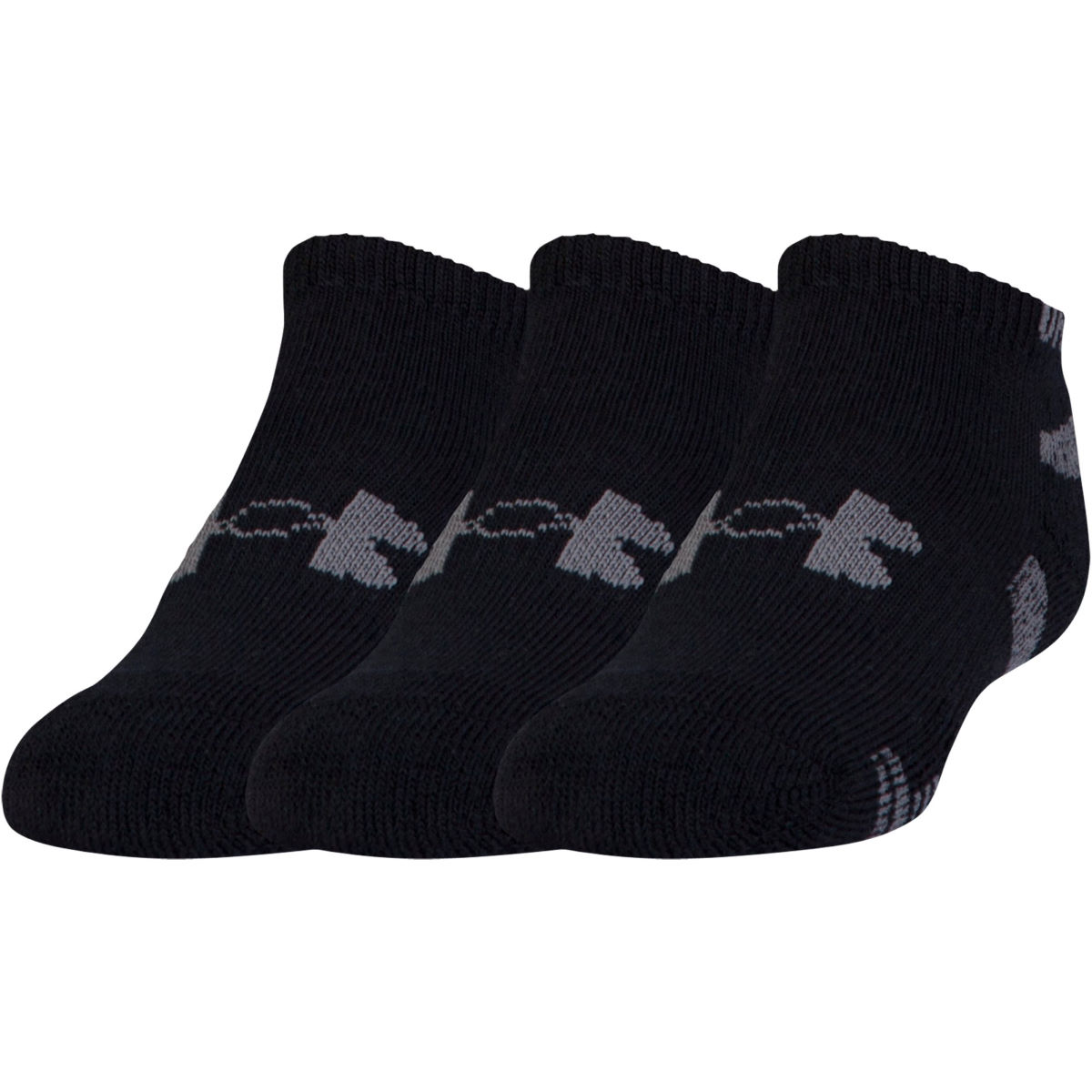 Chaussettes Under Armour HeatGear No Show (lot de 3) - M Noir