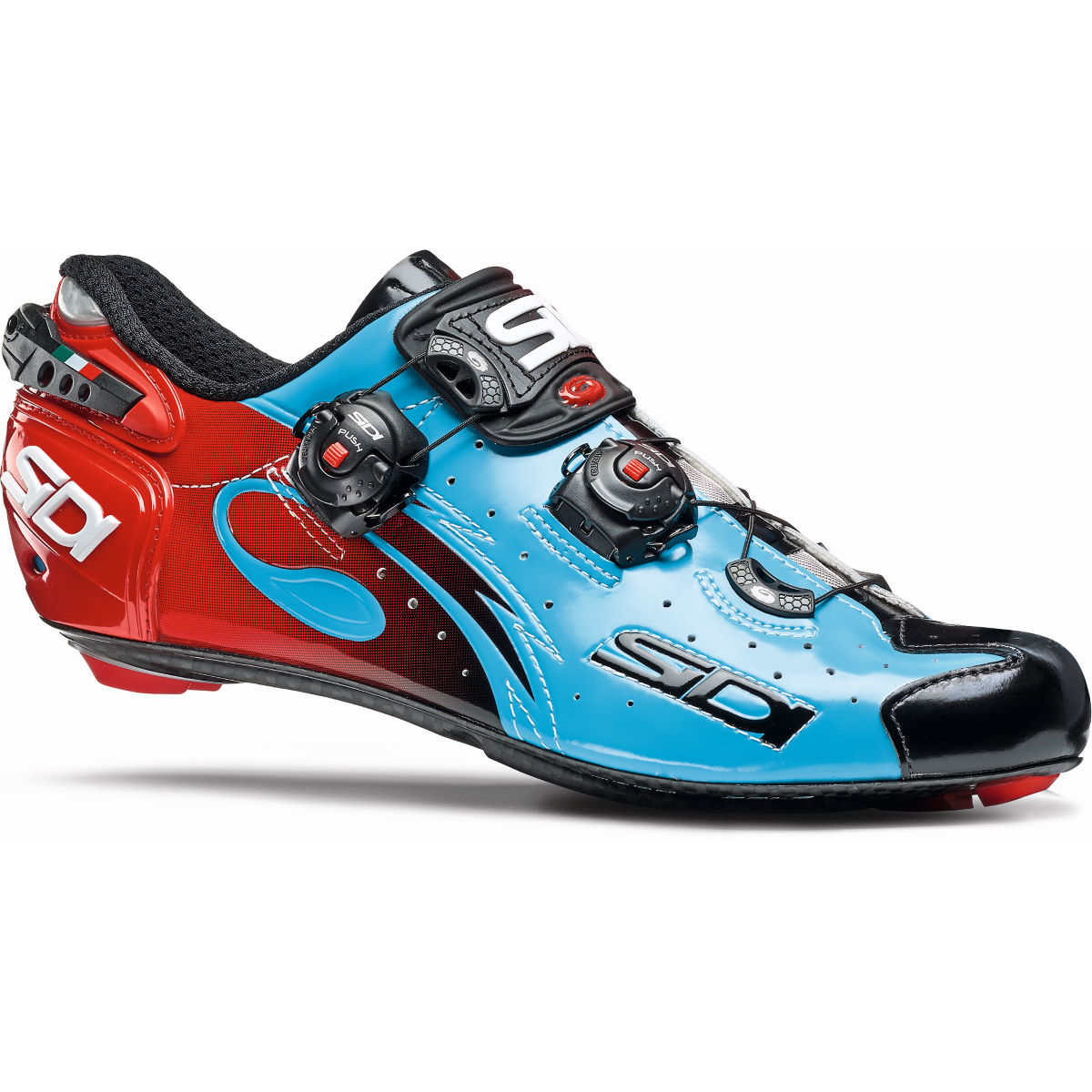 Sidi Wire Carbon Vernice Road Shoes - 47 Blue/Black | Road Shoes
