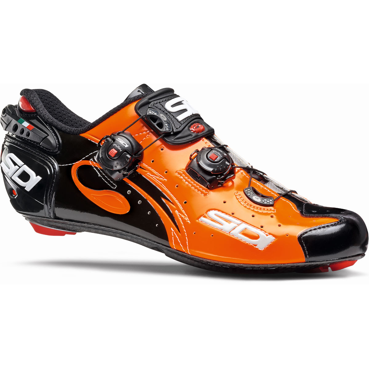 Chaussures de route Sidi Wire Carbon Vernice - 40,5 Orange/Black