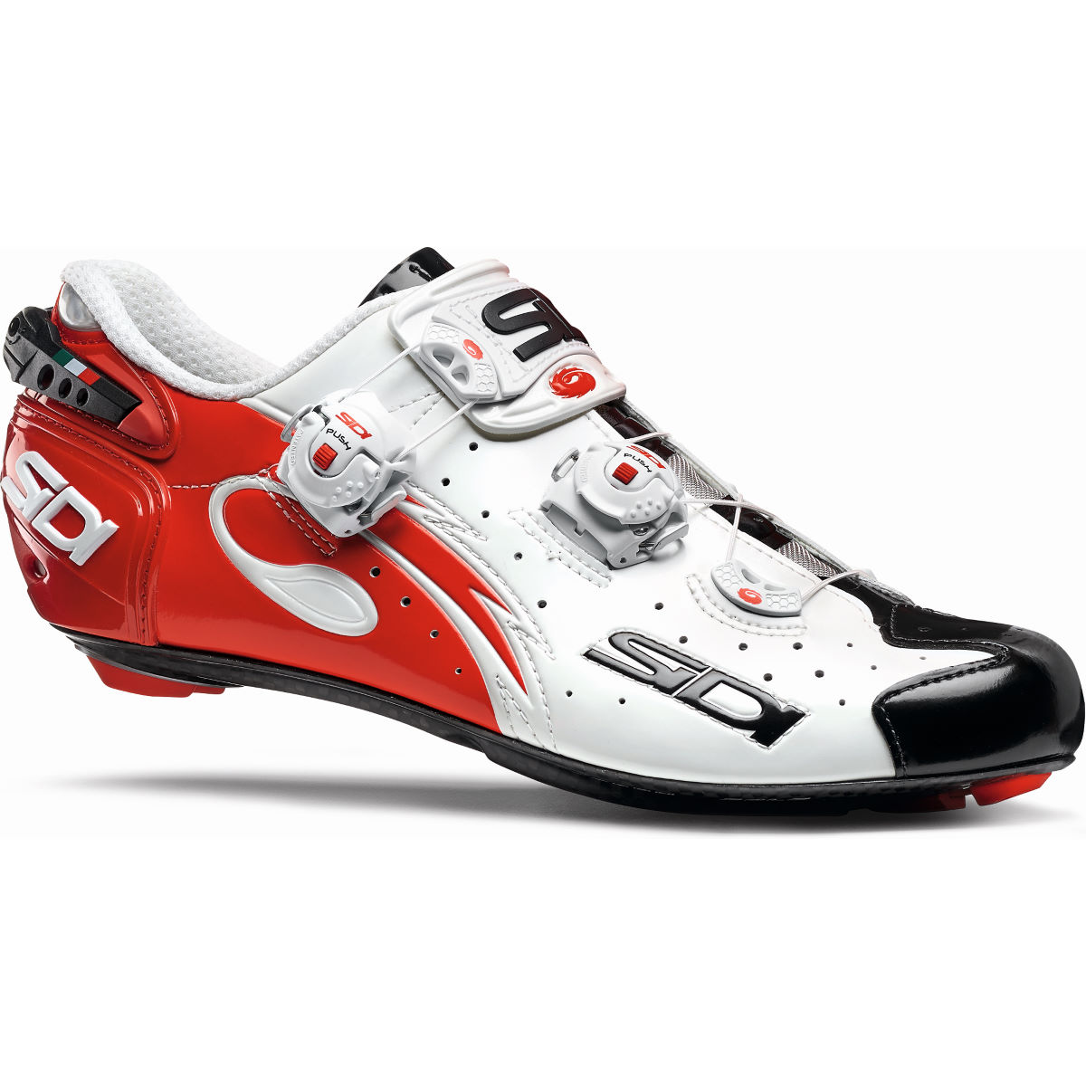 Sidi Wire Carbon Vernice Road Shoes - 40.5 White/Black/Red