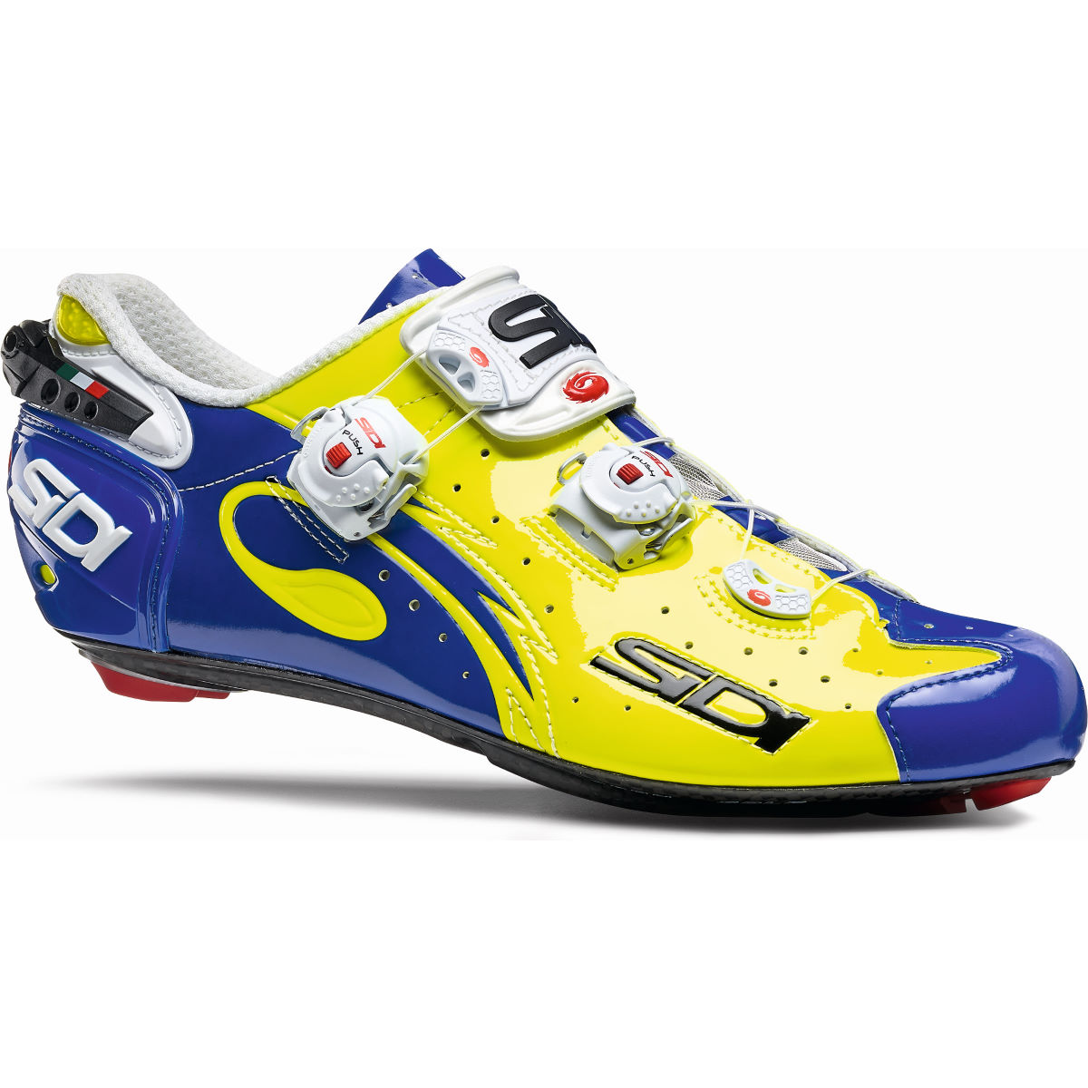 Chaussures de route Sidi Wire Carbon Vernice - 39 Yellow/Blue Chaussures de route