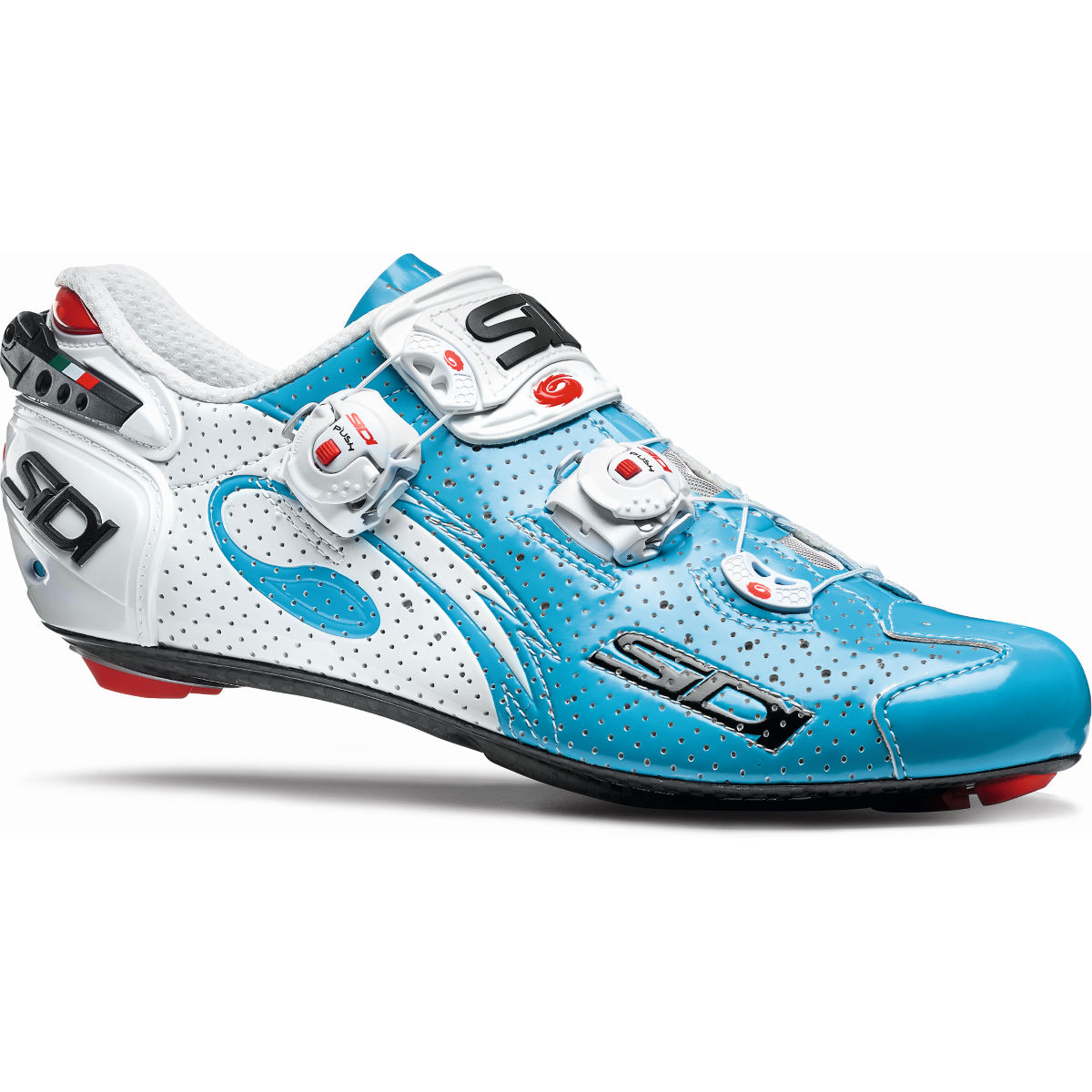 Chaussures Sidi Wire Carbon Air Vernice - 45,5 Bleu/Blanc