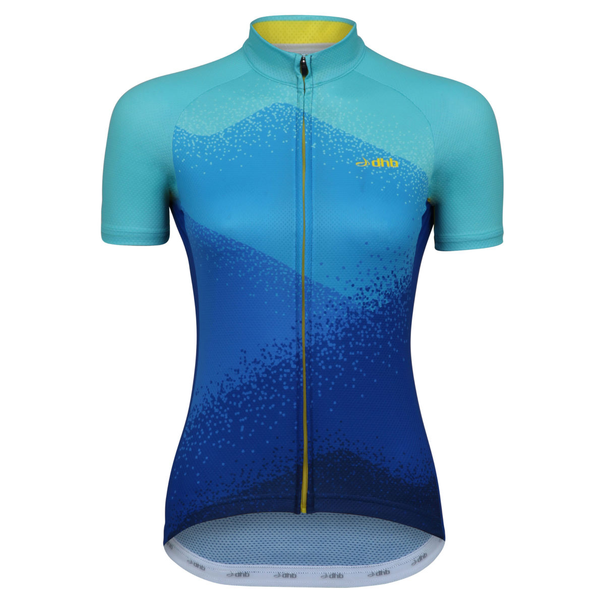 Maillot Femme dhb Blok Haze (manches courtes) - 8 UK Blue/Yellow