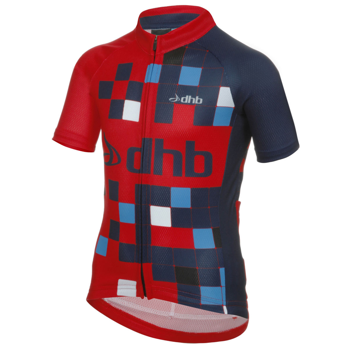 Maillot Enfant dhb Logo (manches courtes) - 8-10 Years Red/Blue Maillots vélo à manches courtes