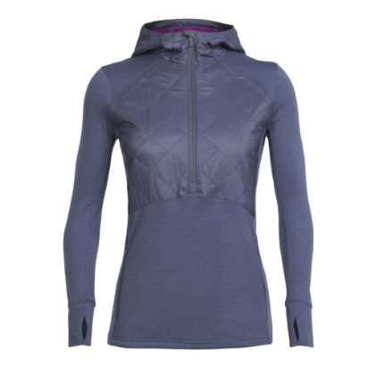 Icebreaker Women's Ellipse Long Sleeve Half Zip Hood