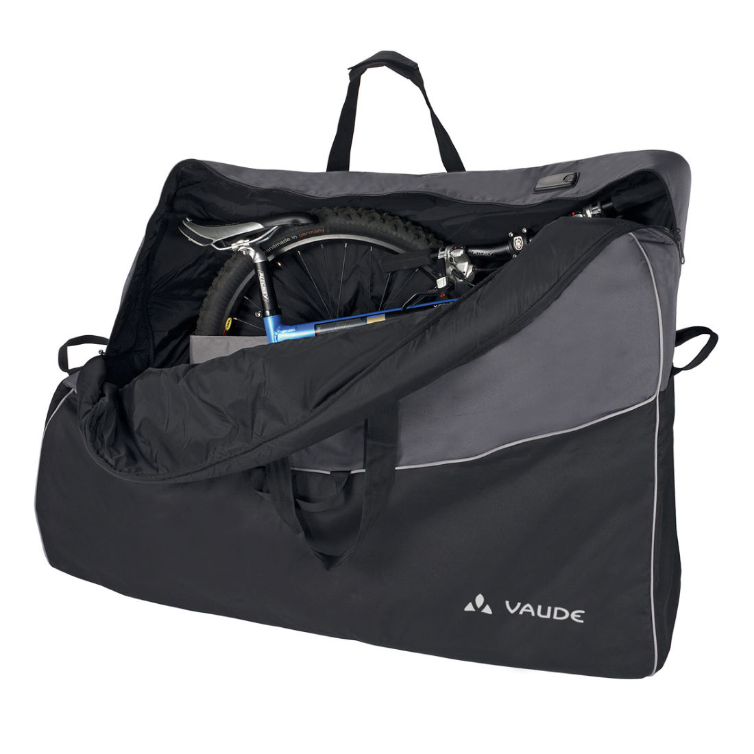 Housses de v lo souples vaude big bike bag pro for Housse de velo intersport