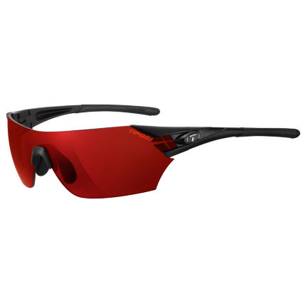 Tifosi Eyewear Podium Matte Black AC Red Sunglasses