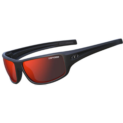 Tifosi Eyewear Bronx Matte Black / Polarised Clarion Red Lens