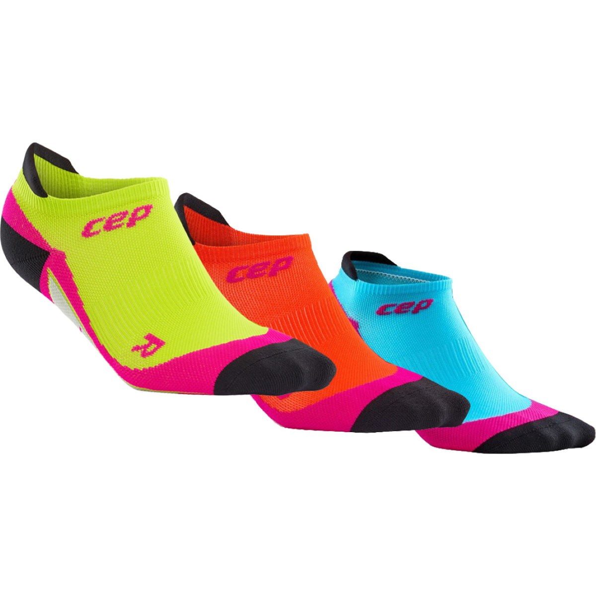 Calcetines CEP Dynamic+ para mujer (3 pares, caña invisible) - Calcetines para correr