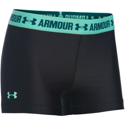 Under Armour Women's HeatGear Armour Shorty(Black/Green, AW16)
