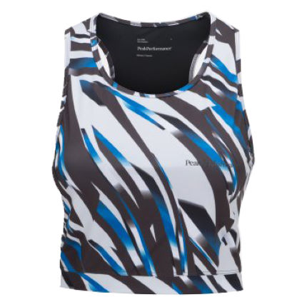 Peak Performance Crop Print Funktionstop Frauen