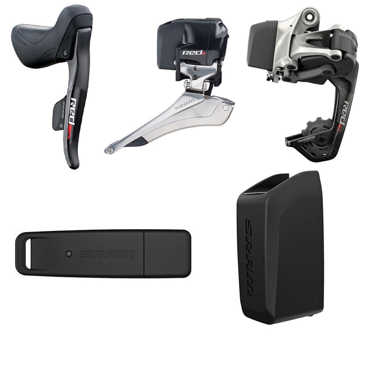 Groupe SRAM Red eTap WiFLi (route) - Kit of Parts Noir Groupes
