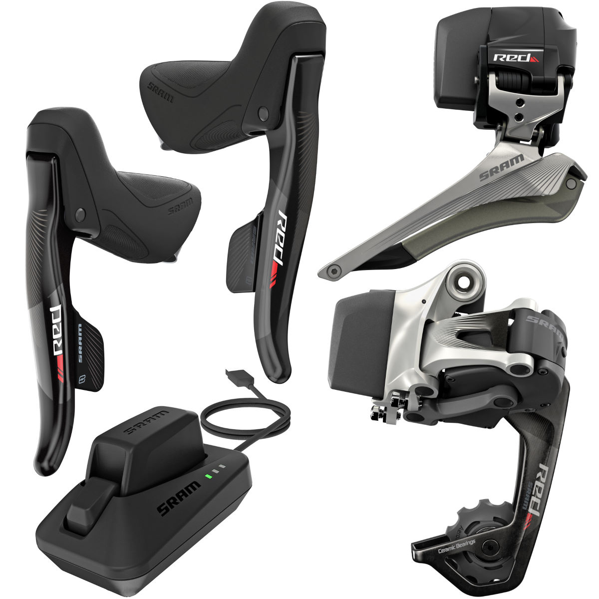 Groupe SRAM Red eTap WiFLi (route) - Option 1 Noir Groupes