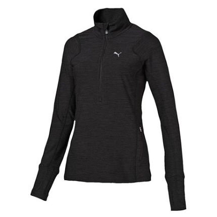 Puma Women's Long Sleeve 1/2 Zip Heather Top (AW16)