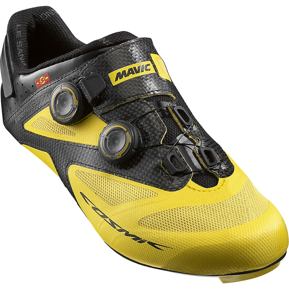 Chaussures Mavic Cosmic Ultimate Maxi Fit - 6 UK Jaune Chaussures de route