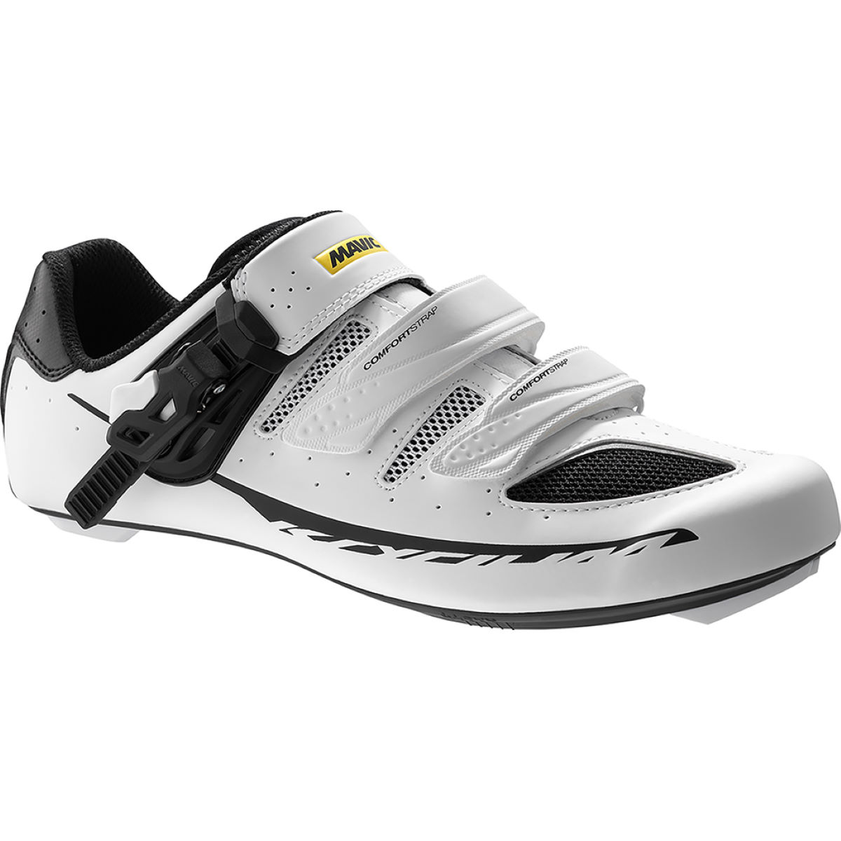 Chaussures Mavic Ksyrium Elite Maxi Fit II - 10 UK Blanc Chaussures de route
