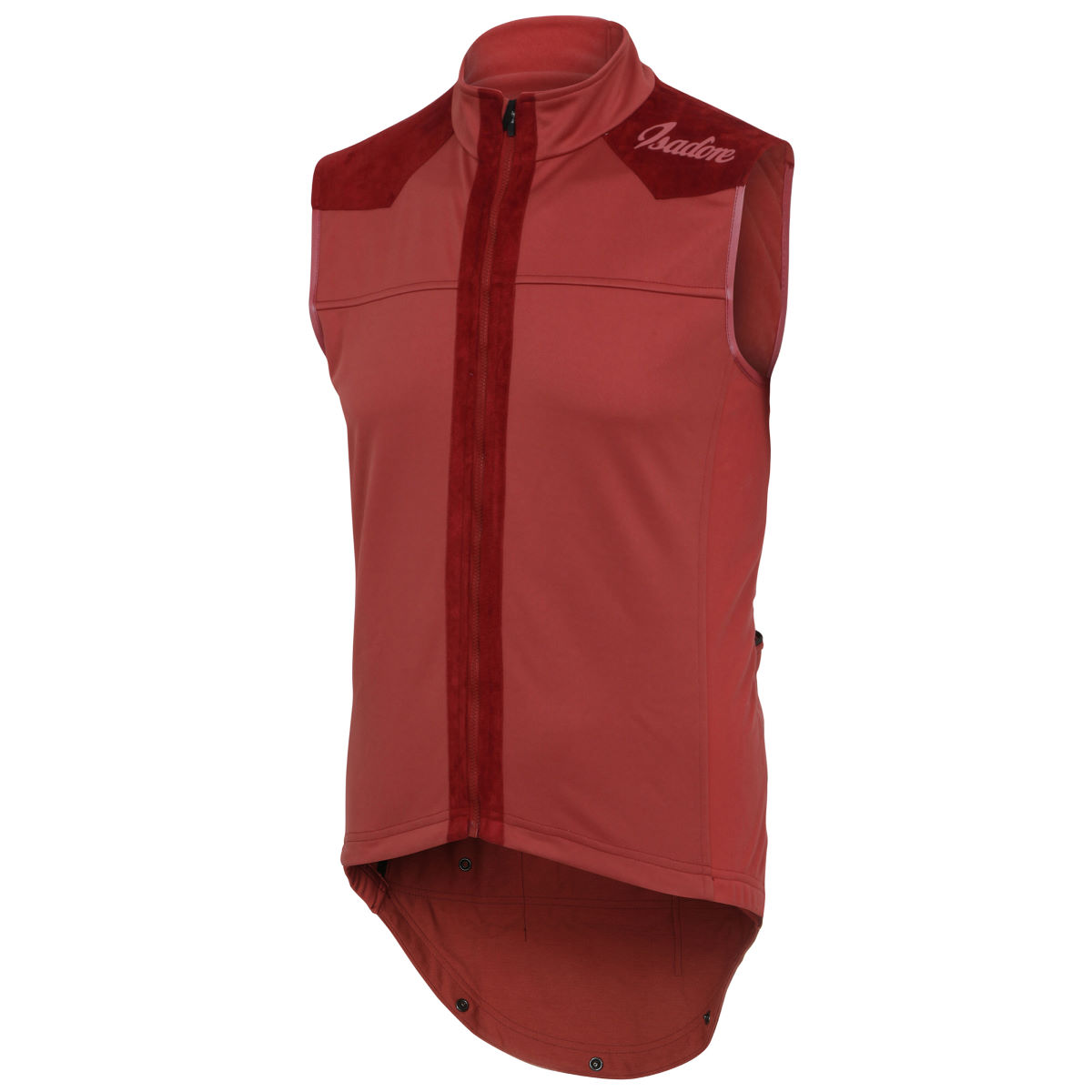Gilet Isadore Merino Membrane (sans manches) - S Rouge