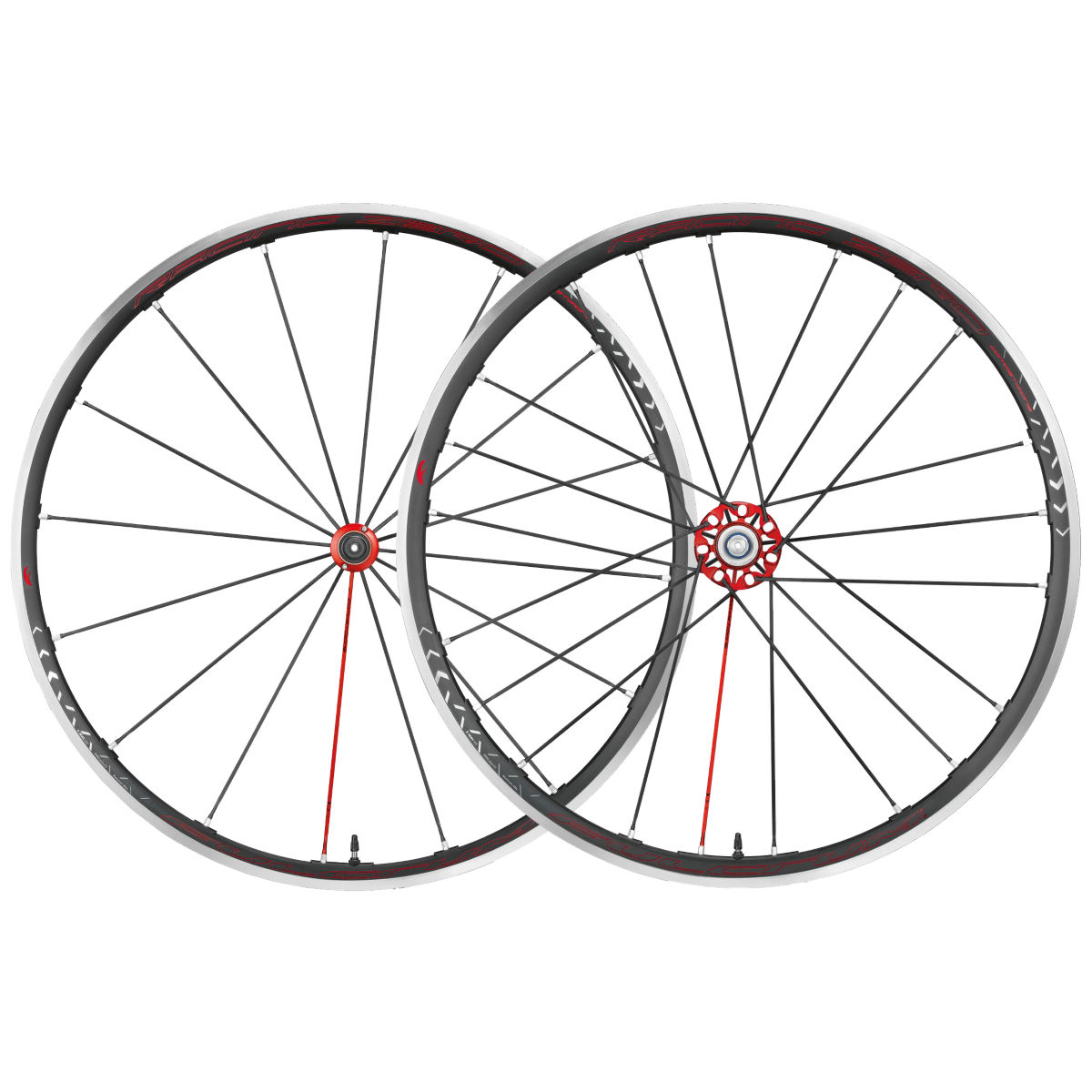 Roue Fulcrum Racing Zero C17 Competizione - Campagnolo 10/11 Noir/Rouge Roues performance