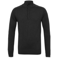 howies Courtney Wool Long Sleeve Raw Seam Polo