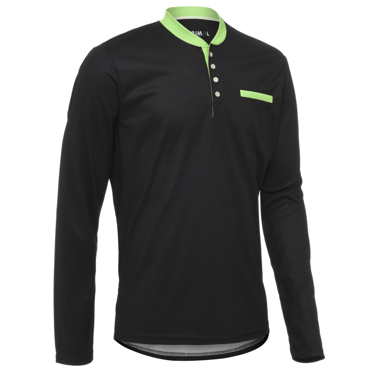 Maillot Primal Henley (manches longues) - XXL Midnight Black