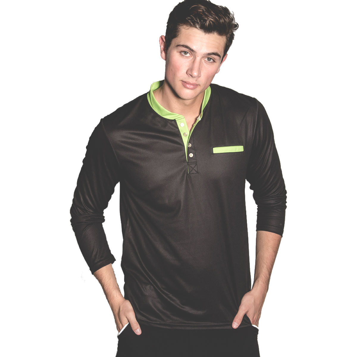 Maillot Primal Henley (manches longues) - XS Midnight Black T-shirts