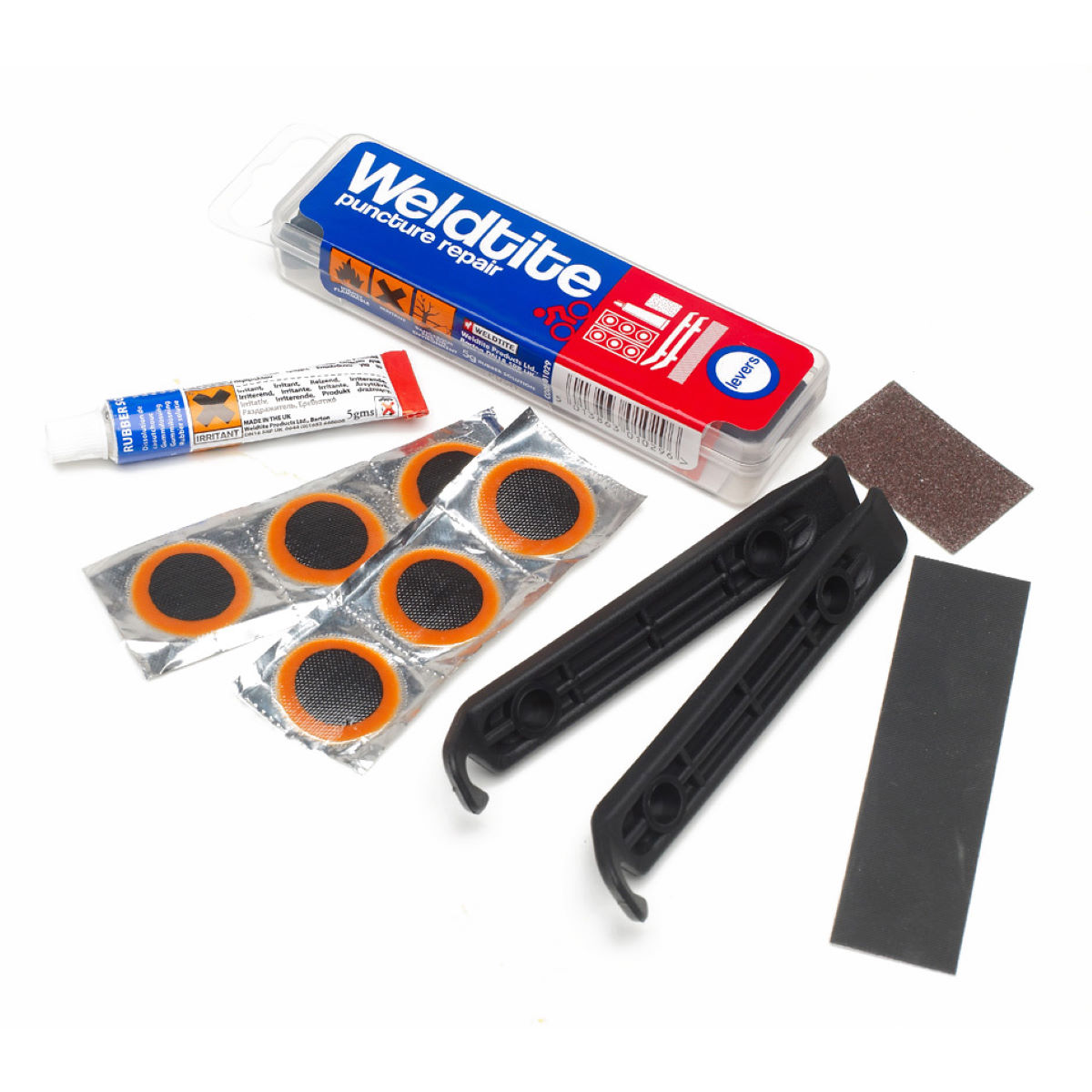 Weldtite Puncture Repair Kit & Tyre Levers - Reparapinchazos
