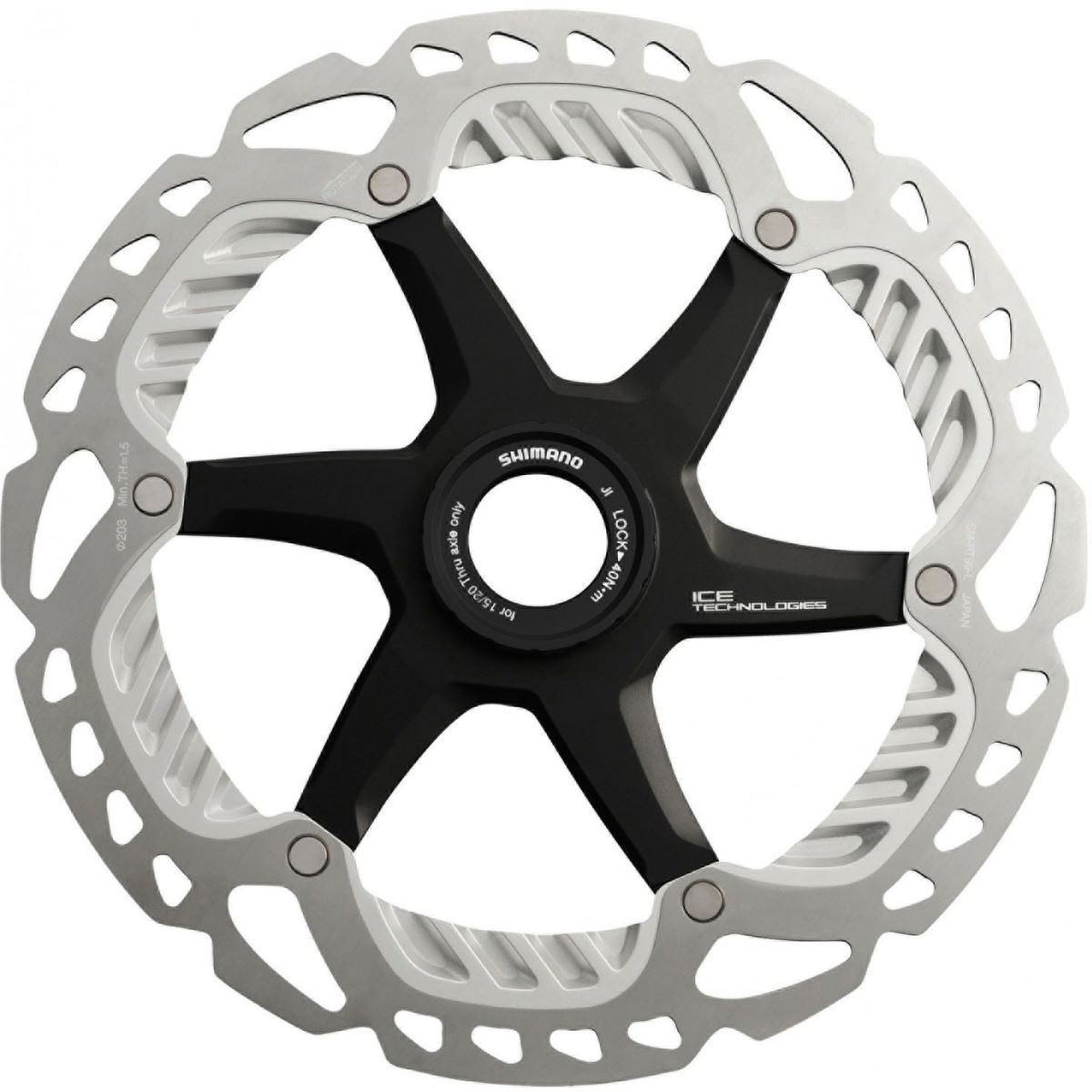 Disque Shimano RT99 Ice-Tech FREEZA CL - 203mm Argenté