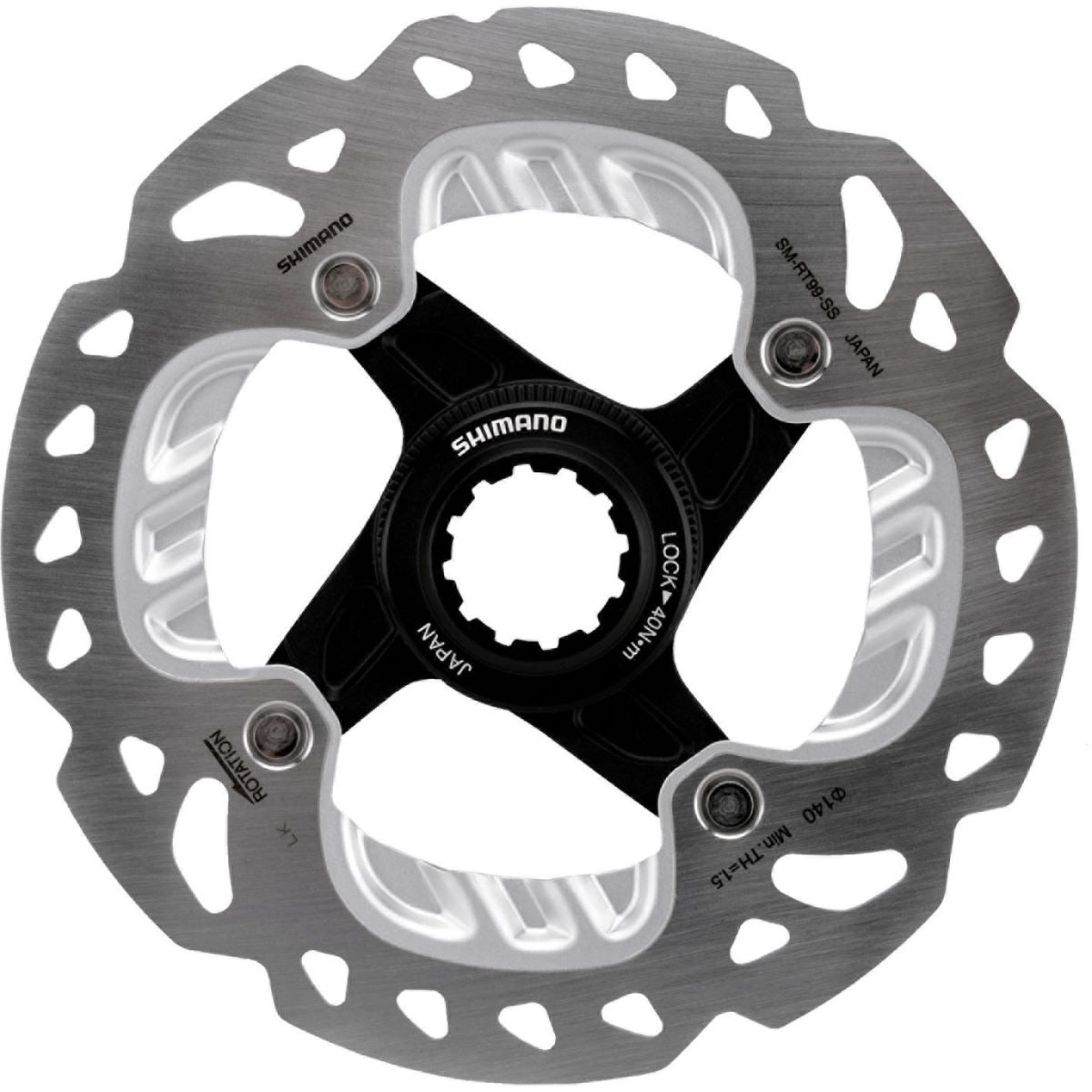 Disque Shimano RT99 Ice-Tech FREEZA CL - 140mm Argenté