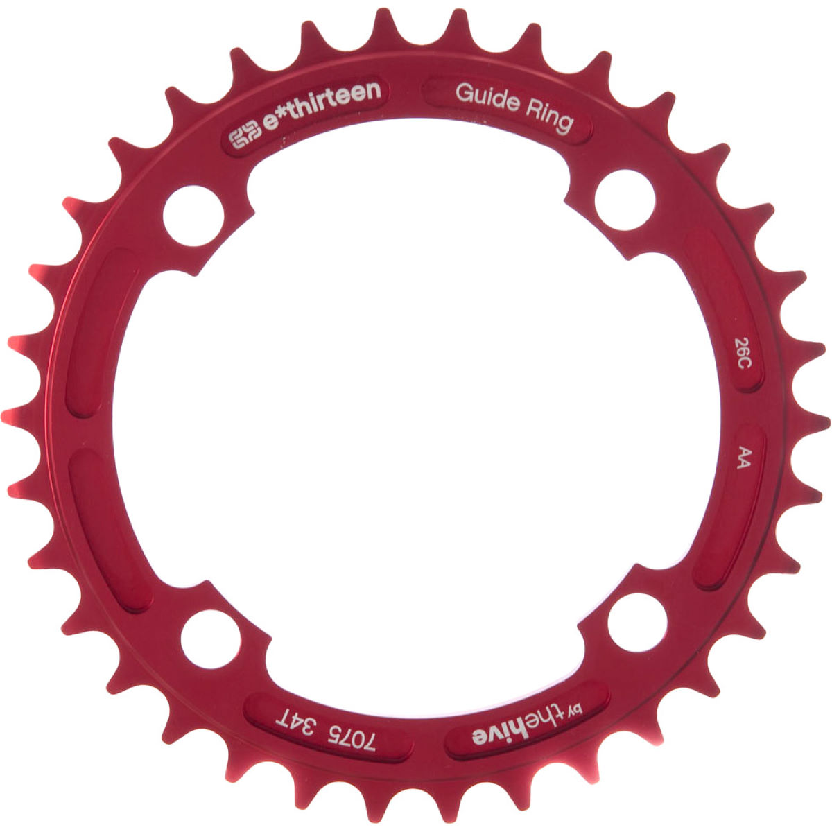 Plateau simple e.thirteen G-Ring - 34t 9/10/11 Speed Ano Red