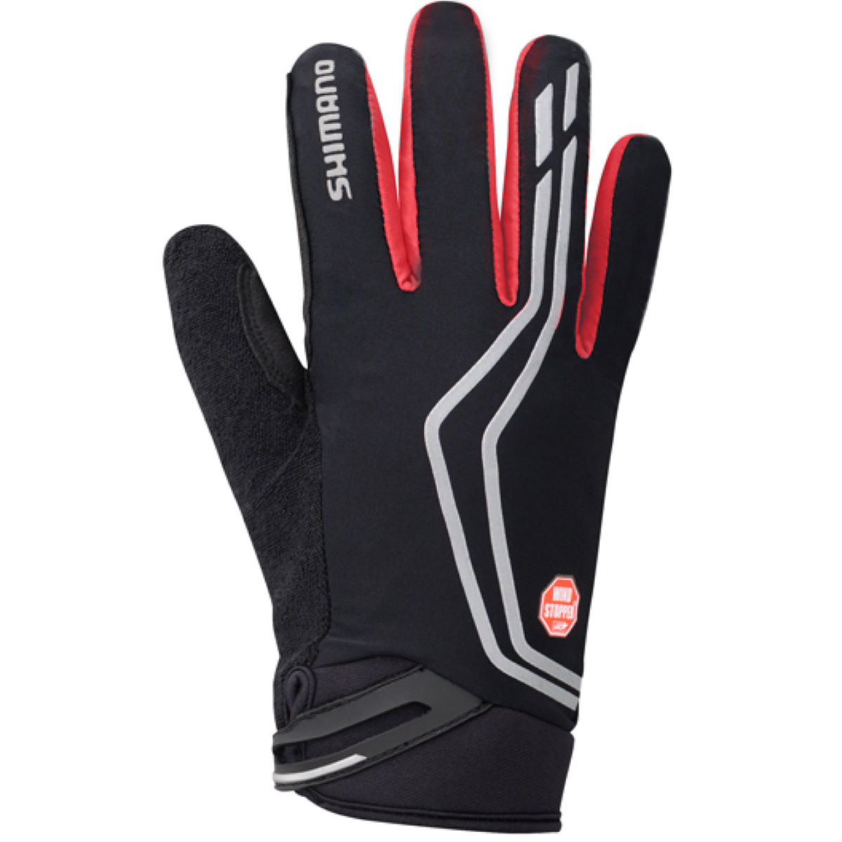 Gants Shimano Windstopper (isolés) - Small Rouge Gants d'hiver