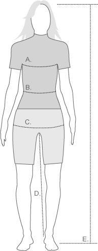 Odlo Womens Measurement Diagram