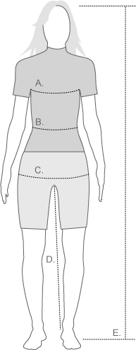 Giordana womens measure diagram