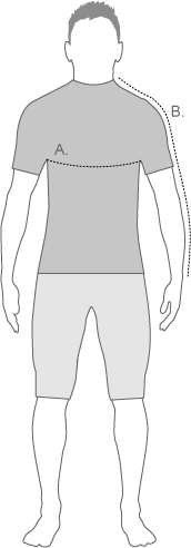 Altura mens tops measure diagram