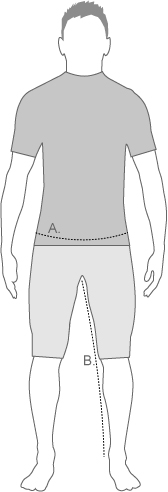 Altura Mens Legwear Measurement Diagram