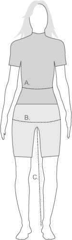 Altura womens leg measurement diagram