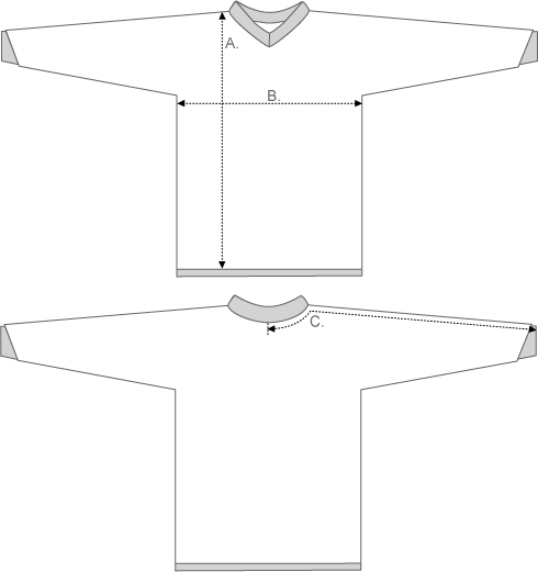 Troy Lee Jersey Measurement Diagram