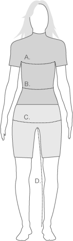 asics womens measure diagram