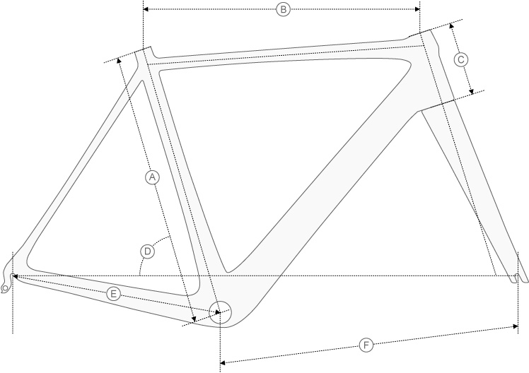 De Rosa Protos geometry diagram