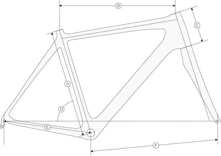 de rosa r838 geometry diagram
