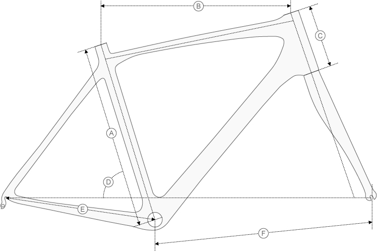 De Rosa r848 geometry diagram