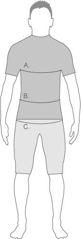Speedo mens tri tops measure diagram