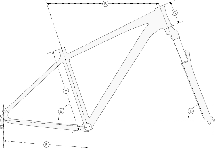 boardman 29er hardtail geometry diagram