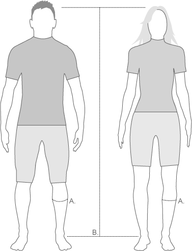 Zensah unisex calf sleeve measure diagram
