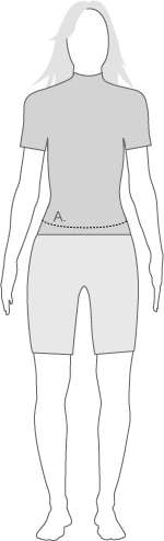 dhb womens legwear measurement diagram