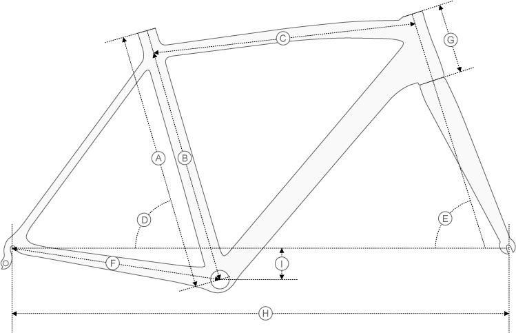 Mekk Poggio 2G P35 Geometry Diagram