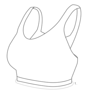 Sports Bra Size Diagram